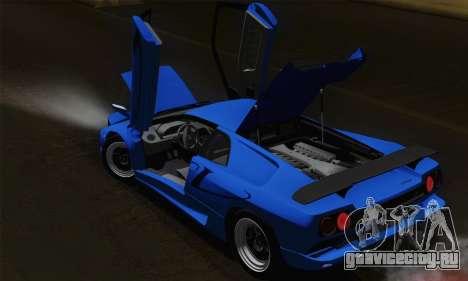Lamborghini Diablo SV 1995 (HQLM) для GTA San Andreas салон