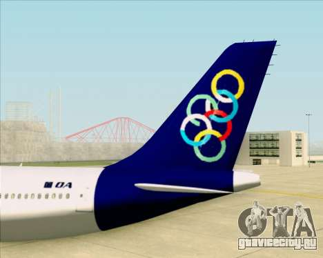 Airbus A330-300 Olympic Airlines для GTA San Andreas вид снизу