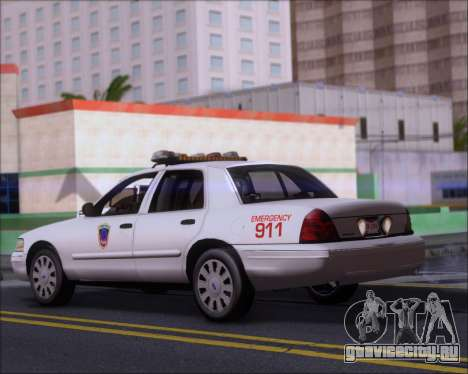 Ford Crown Victoria Tallmadge Battalion Chief 2 для GTA San Andreas вид сзади слева