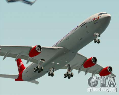Airbus A340-313 Virgin Atlantic Airways для GTA San Andreas вид сзади