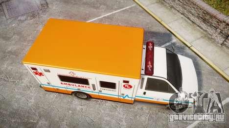 GTA V Brute Ambulance [ELS] для GTA 4 вид справа