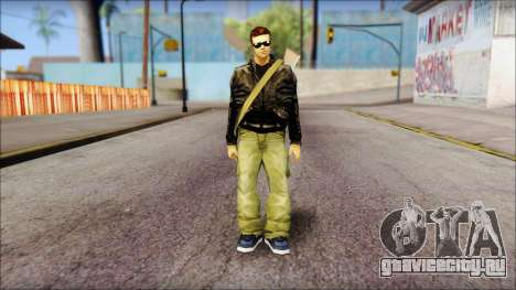Shades and Gun Claude v1 для GTA San Andreas