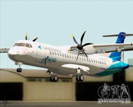 ATR 72-500 Garuda Indonesia Explore для GTA San Andreas вид сзади