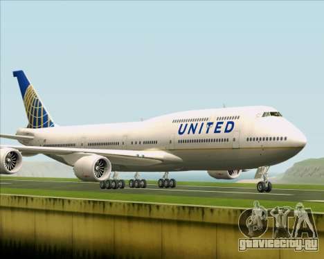 Boeing 747-8 Intercontinental United Airlines для GTA San Andreas вид слева