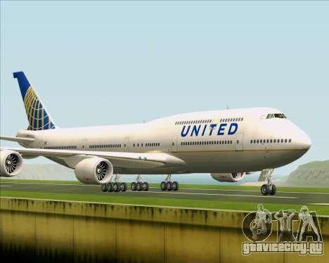 Boeing 747-8 Intercontinental United Airlines для GTA San Andreas вид слева