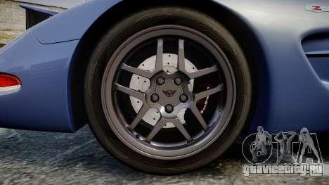 Chevrolet Corvette Z06 (C5) 2002 v2.0 для GTA 4 вид сзади