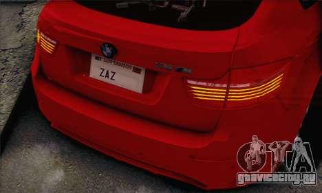 BMW X6M 2013 v3.0 для GTA San Andreas вид справа