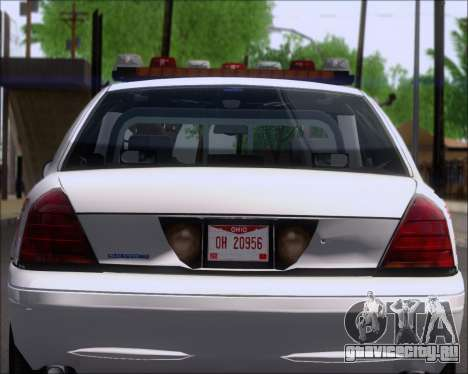 Ford Crown Victoria Tallmadge Battalion Chief 2 для GTA San Andreas вид изнутри