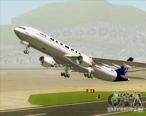 Airbus A330-300 Olympic Airlines для GTA San Andreas колёса