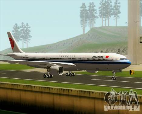Airbus A330-300 Air China для GTA San Andreas вид сзади слева