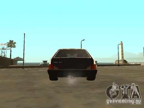 ВАЗ 2108 Бункер для GTA San Andreas вид сзади слева