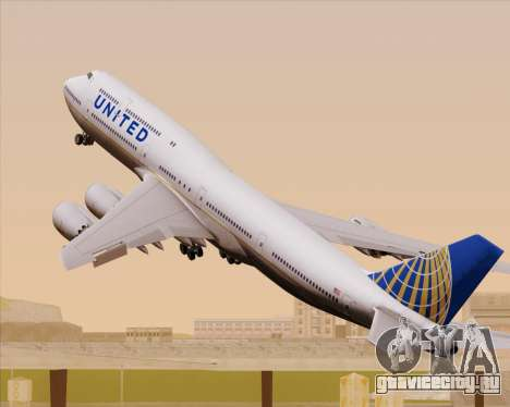 Boeing 747-8 Intercontinental United Airlines для GTA San Andreas