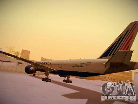 Boeing 777-212ER Transaero Airlines для GTA San Andreas вид сзади
