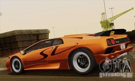 Lamborghini Diablo SV 1995 (ImVehFT) для GTA San Andreas вид слева