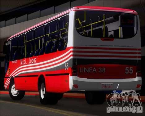 Neobus Spectrum Linea 38 Mcal. Lopez для GTA San Andreas колёса
