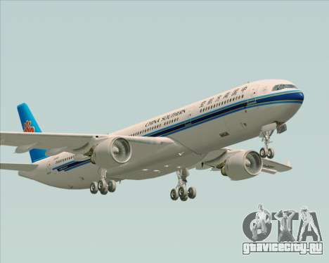 Airbus A330-300 China Southern Airlines для GTA San Andreas вид снизу