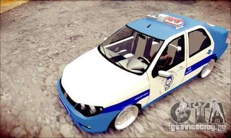 Fiat Albea Police Turkish для GTA San Andreas