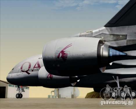 Airbus A380-861 Qatar Airways для GTA San Andreas вид снизу