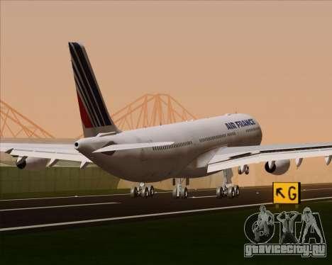 Airbus A340-313 Air France (Old Livery) для GTA San Andreas колёса
