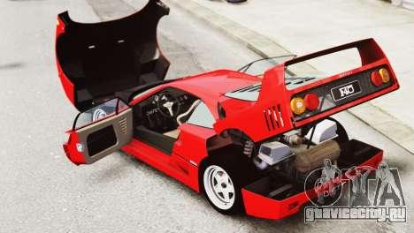 Ferrari F40 1987 для GTA 4 вид изнутри
