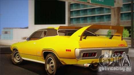 Plymouth GTX Tuned 1972 v2.3 для GTA San Andreas вид сзади слева