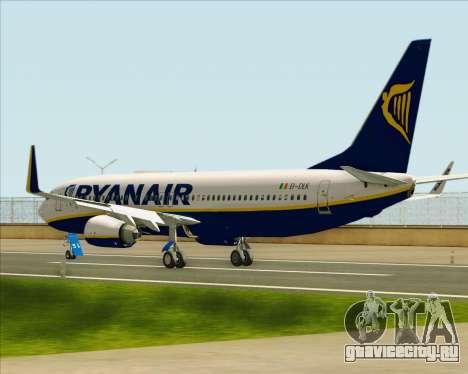 Boeing 737-8AS Ryanair для GTA San Andreas вид сзади слева