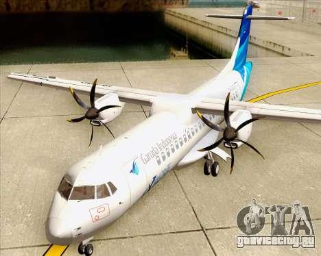 ATR 72-500 Garuda Indonesia Explore для GTA San Andreas вид изнутри