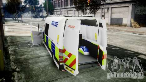 Mercedes-Benz Sprinter Police 2014 для GTA 4 вид справа