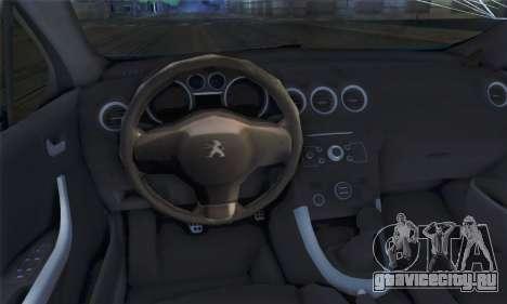 Peugeot 308 2010 для GTA San Andreas вид сзади слева