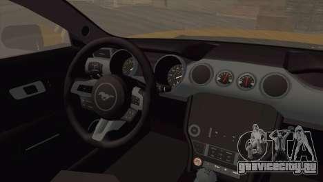 Ford Mustang GT 2015 для GTA San Andreas вид сзади слева