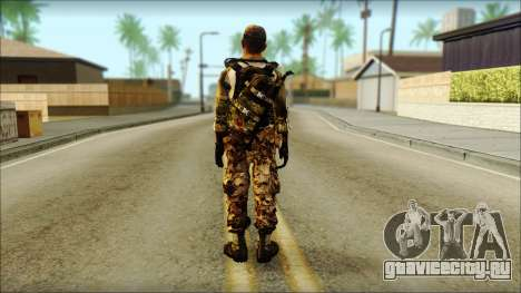 Taliban Resurrection Skin from COD 5 для GTA San Andreas второй скриншот