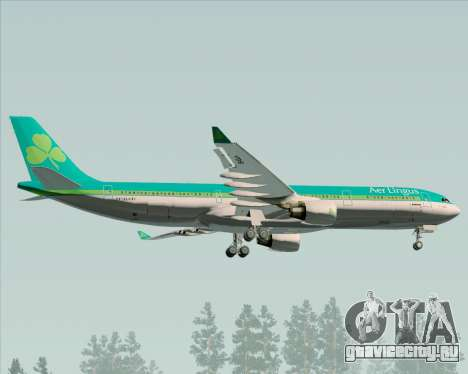 Airbus A330-300 Aer Lingus для GTA San Andreas вид изнутри