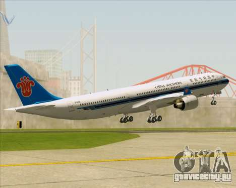 Airbus A330-300 China Southern Airlines для GTA San Andreas двигатель