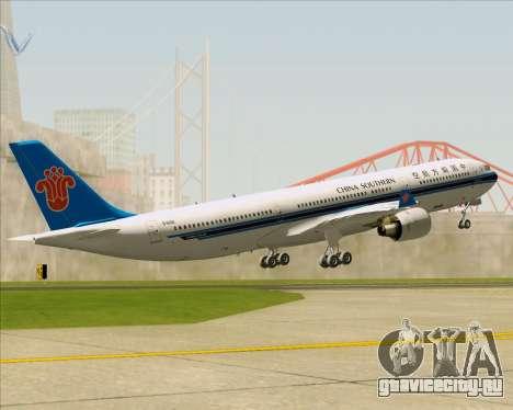 Airbus A330-300 China Southern Airlines для GTA San Andreas двигатель