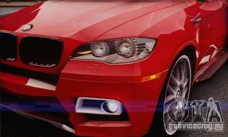 BMW X6M 2013 v3.0 для GTA San Andreas вид изнутри