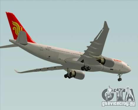 Airbus A330-200 Air China для GTA San Andreas вид сверху