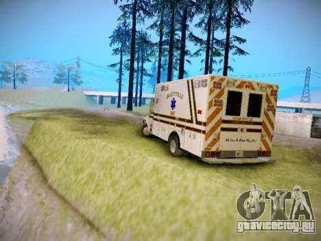 Pierce Commercial Grasonville Ambulance для GTA San Andreas вид справа
