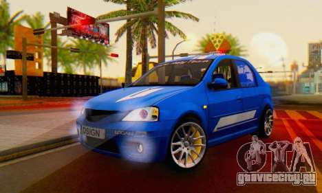 Dacia Logan Tuning Rally (B 48 CUP) для GTA San Andreas
