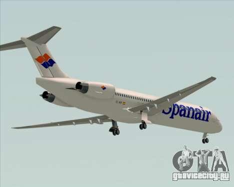 McDonnell Douglas MD-82 Spanair для GTA San Andreas вид сверху