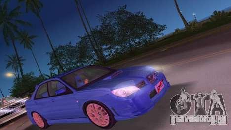 Subaru Impreza WRX STI 2006 Type 4 для GTA Vice City вид слева