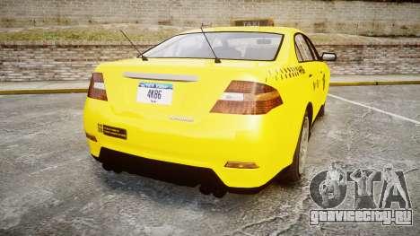 GTA V Vapid Taurus Taxi NYC для GTA 4 вид сзади слева