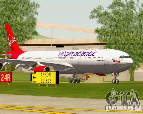Airbus A340-313 Virgin Atlantic Airways для GTA San Andreas двигатель
