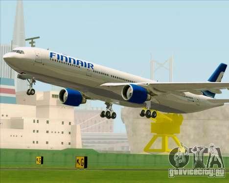 Airbus A330-300 Finnair (Old Livery) для GTA San Andreas вид снизу