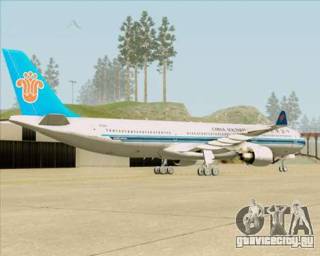 Airbus A330-300 China Southern Airlines для GTA San Andreas вид справа