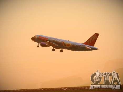 Airbus A320-214 TAM Airlines RIO для GTA San Andreas вид сзади