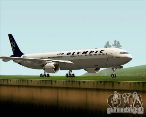 Airbus A330-300 Olympic Airlines для GTA San Andreas вид слева