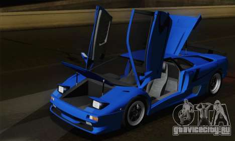 Lamborghini Diablo SV 1995 (ImVehFT) для GTA San Andreas вид снизу