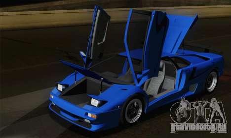 Lamborghini Diablo SV 1995 (HQLM) для GTA San Andreas вид снизу