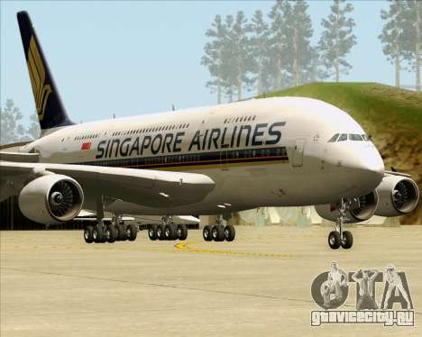 Airbus A380-841 Singapore Airlines для GTA San Andreas вид слева
