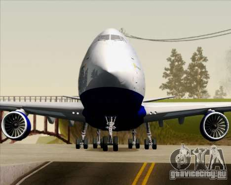 Boeing 747-8 Cargo British Airways World Cargo для GTA San Andreas вид снизу